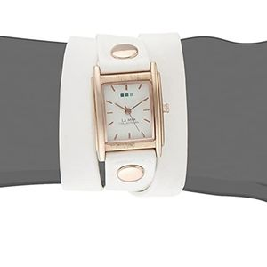La Mer Collections Wanderlust Faux Leather Watch